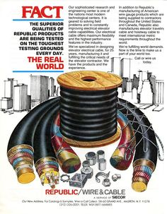 #FlashbackFriday to this Republic/Wire&Cable ad in the June 1982 issue of ELEVATOR WORLD! #elevatorcable #wirerope