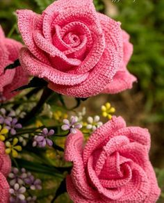 Crochet Rose Pattern Crochet Flower Pattern