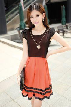Summer, Chiffon, Two Colors, Layered, Elegant Dress, YRB2036, YRB Fashion, Elegant Lady, Free Shipping, online Clothing, Womens