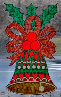 sticker static static cling wicoart window window color bells cloches cling noel color sticker verre glass christmas bells - Windows Color Noel