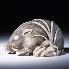 The netsuke I remember best from the Victoria and Albert Museum netsuke collection.