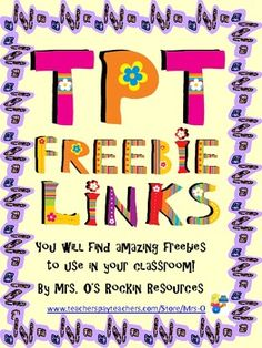 Freebie Links for Teachers!!!!!!!