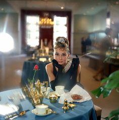 Audrey Hepburn.....Having Breakfast at Tiffany's