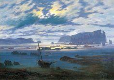 Northern Sea in the Moonlight.  Caspar David Friedrich. 1823/1824
