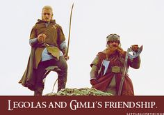 Legolas and Gimli's friendship.  Submitted by musicinmyheartbeat.