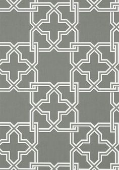 Pierson #wallpaper in #charcoal from the Graphic Resource collection. #Thibaut