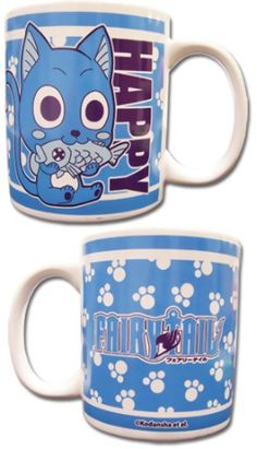 Fairy Tail Mug: Happy SGUT UP AND TAKE MY MONEY