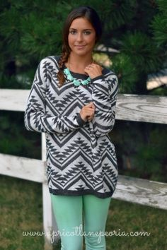 Comfy Tribal Sweater, $48.00