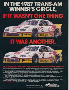 Jack Roush Trans-Am Mercury Merkur Le Mans, Sports Car Racing, Auto Racing, Road Racing, Edsel Ford, Scorpio Car, Mustang Cobra, Ford Mustang, Ferrari