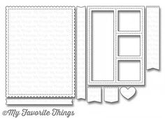 "MY FAVORITE THINGS: Die-namics Blueprint Dies #27 Die-namics dies work with most tabletop die cutting machines such as the Big Shot & Cuttlebug. This 8 piece set includes: Scallop panel 4"" x 5 ¼"", Sti"