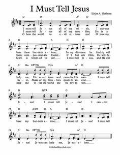 My Personal Website where I post Free Sheet Music, by Michael Kravchuk Praise Songs, Songs To Sing, Music Songs, I Must Tell Jesus, Children's Church Songs, Gospel Music, Gospel Lyrics, Beginner Piano Music, Nursery Rhymes Lyrics