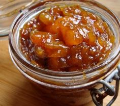 """Apricot Chutney Recipe: Chutneys, from the Hindi """"to be licked"""", are relishes that originated in India. Apricot chutney is one of my favorite chutneys Apricot Chutney Recipe, Nectarine Chutney, Bbc Good Food Recipes, Indian Food Recipes, Cooking Recipes, Vegetarian Recipes, Relish Recipes, Chutney Recipes, Jam Recipes"""