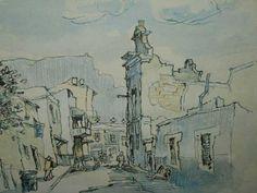 Gregoire Boonzaier (1909-2005) - Malay Quarter, 1974