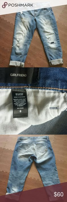 NOT Express Distressed Patch Girlfriend Jean Excellent condition, brand new without tags express  Jeans Boyfriend