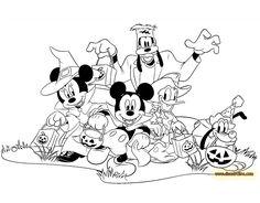 Kleurplaten Disney Halloween.90 Beste Afbeeldingen Van Disney Halloween Color