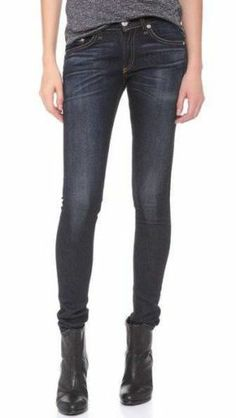 Dark skinny jeans are very stylish and form fitting. Wearing darker jeans will help make you look thinner. Anther great thing about dark jeans is they will match pretty much anything. From tshirts to fancy blouses, sneakers to heels and sweat jackets to blazers. Their is so many different possibilities with jeans find what looks the best on you.