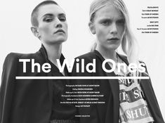 Stories Collective / The Wild Ones / Photography Rickard Sound at Agent Bauer…