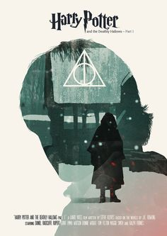 Harry Potter and the Deathly Hallows: Part 1 (2010) ~ Alternative Movie Poster by Joel Amat Guell ~ Harry Potter Series #amusementphile