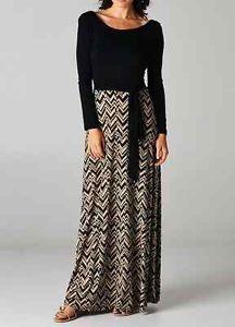 chevron pattern dresses | Long Sleeve Maxi Dress Black with Tie Chevron Pattern Boutique Fall ...