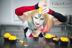 Enjoy Some Harley Quinn Cosplay With Your Cupcakes