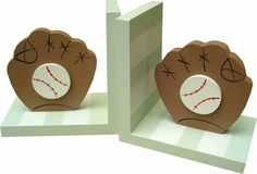 Striped Baseball Bookends | Jack and Jill Boutique
