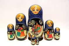 Russian Matryoshka 7pcs Sledge Lada wonderful by EtsyGrail on Etsy