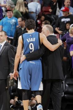 d2f36073a Ricky Rubio is a sweet guy. Mr. Rubio with coach Rick Nba Basketball Teams
