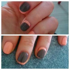 Unghie shellac cnd French reverse!!