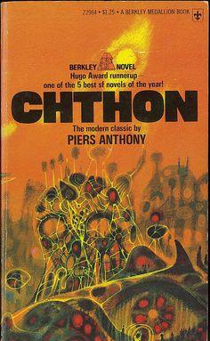 Piers Anthony - Chthon (Berkley Z2984) on Flickr. Via Flickr: Piers Anthony Chthon Berkley Medallion Z2984 1975 (c1967) Cover by Richard Powers.