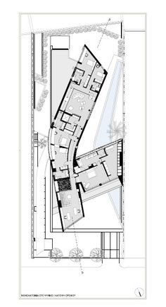 Image 19 of 21 from gallery of Psychiko House / Divercity. University Architecture, School Architecture, Architecture Plan, Residential Architecture, Large Floor Plans, Modern Floor Plans, Hotel Floor Plan, Architectural Floor Plans, School Plan