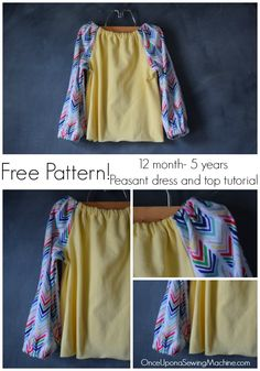 Free pattern and tutorial for a peasant dress and top. Even a beginner can master this DIY peasant dress. Great for knits or woven fabric