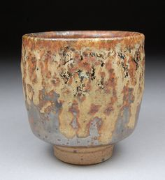 Yunomi Tea Cup glazed with Shino Ash Tenmoku Wood Ash by shyrabbit, $38.00