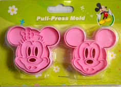 2 Japanese Cookie Cutters -Mickey and Minnie Mouse