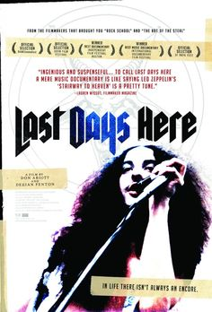 2011 documentary film about the lead singer and front man of legendary doom metal pioneer Pentagram, Bobby Liebling. Liebling is 50, lives in his parents' basement doing drugs, but wants to get his shit together and escape his current lifestyle. I really want to see this film.