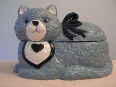 Blue Cat Cookie Jar