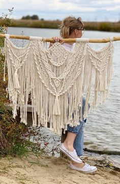 Macrame wall hanging above bed decor Queen tapestry King size headboard Tassel wall art Over the bed wall decor Black Friday Sale Macrame Wall Hanging Patterns, Large Macrame Wall Hanging, Macrame Patterns, Tapestry Wall Hanging, Wall Hangings, Macrame Design, Macrame Art, Macrame Projects, Small Tapestry