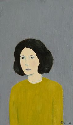 Edna, tiny original acrylic/oil portrait by Elizabeth Bauman. Like a bit of history, or imagination. #rowenamurillo