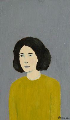 Edna - Original Little Portrait Painting by Elizabeth Bauman, 3 x 5 inches. $130.00, via Etsy.