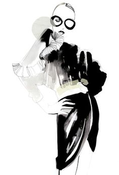 Cecilia Carlstedt is a fashion illustrator based in Stockholm. Cecilia is very good at ink illustrations that she sometimes mix with a collage technique. Art And Illustration, Fashion Illustration Sketches, Fashion Sketchbook, Ink Illustrations, Fashion Sketches, Fashion Drawings, Fashion Moda, Fashion Art, Mode Collage