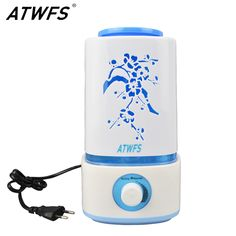 ATWFS Ultrasonic Air Humidifier LED Lamp Mist Maker Aroma Essential Oil Diffuser Fogger Aromatherapy Diffuser Vaporizer Nebulize