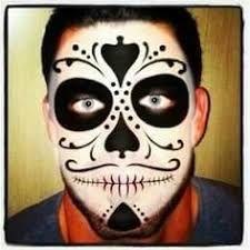Image result for sugar skull makeup for men