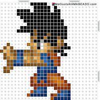 Plantilla Hama Beads Goku pequeño