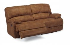 Dylan Leather Two-Cushion Chaise Reclining Sofa by #Flexsteel via Flexsteel.com