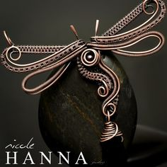 Wire Wrapped Dragonfly Pendant from Nicole Hanna Jewelry