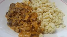 Gombapaprikás gluténmentes liszttel sűrítve Chana Masala, Risotto, Ethnic Recipes, Food, Essen, Meals, Yemek, Eten