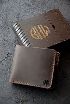 Monogrammed Wallet- $27 - Replace the dingy wallet he's had since high school with this more elevated version. Each wallet is handmade with genuine leather and can be personalized with his initials. See more great Valentine's gifts for him at GoodHousekeeping.com. (If you click to buy this product, we earn :moneybag:!)
