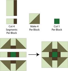 Experiment With Fabrics to Sew Unique Variations of Greek Cross Blocks: Assemble the Greek Cross Quilt Block