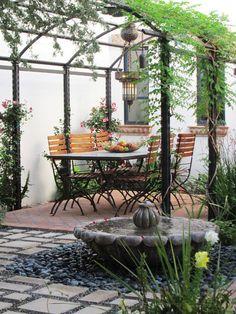 mediterranean patio .