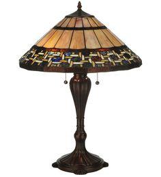 "25""H Ilona Tiffany Mission Table Lamp"