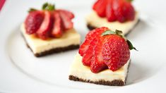 Creamy cheesecake and fresh berries top a chocolate cereal crust in this delicious brownie dessert.